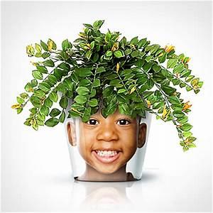 personnaliser des pots de fleurs avec vos photos idee With affiche chambre bébé avec pot de fleur blanc