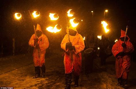 That's One Way To Keep Warm! Pagan Sun Worshippers Stage