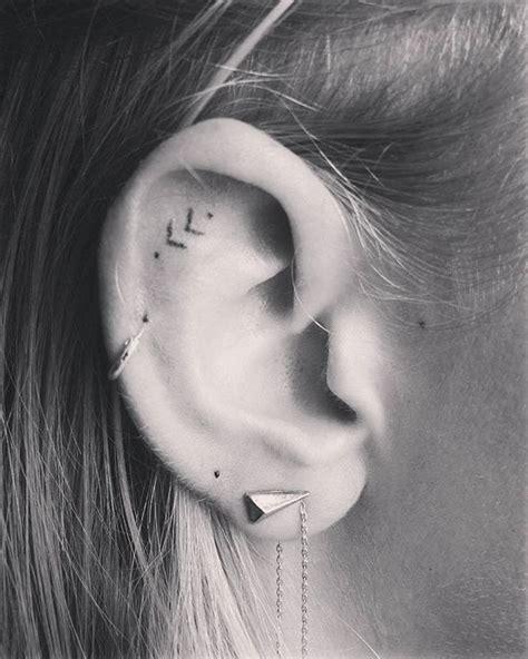 ideas  ear tattoos  pinterest cute piercings piercing tattoo  small simple