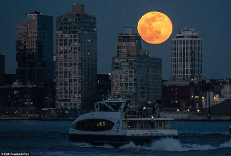 stunning photographs show  march super worm moon
