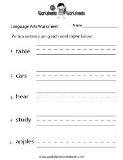 language arts worksheets  printable worksheets