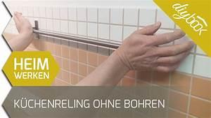 Balkonmarkisen Ohne Bohren : k chenreling ohne bohren befestigen youtube ~ Watch28wear.com Haus und Dekorationen
