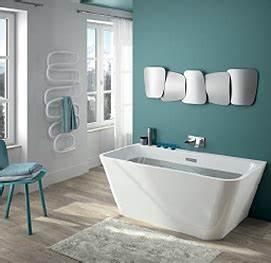 Baignoire Ilot Contre Mur : myva et tellia d aquarine deux nouvelles baignoires autoportantes ultra design et ~ Nature-et-papiers.com Idées de Décoration