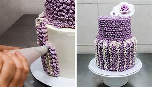 CROCHET Buttercream Cake Technique by CakesStepbyStep