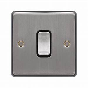 1 Gang 2 Way Wall Switch  Switches  Wiring Accessories Wrps12bsw  Hager Uk