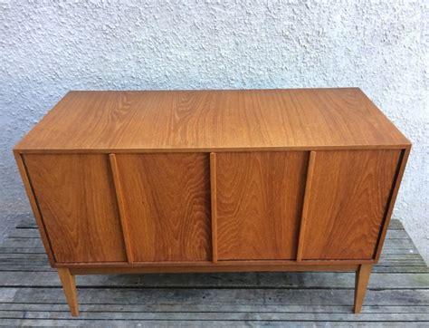 mid century cabinet doors vintage mid century record vinyl cabinet with bifold doors