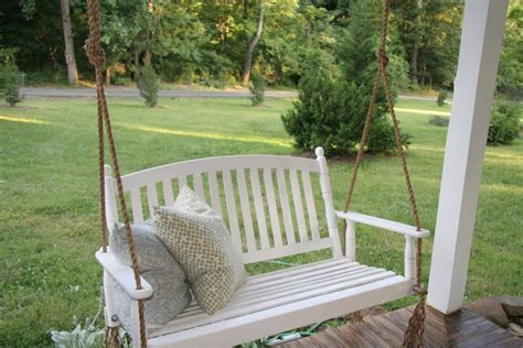 Wooden Porch Swings Home Depot In White — Jbeedesigns