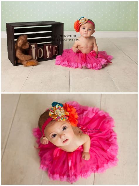 baby girl  month session love sweet  tutus