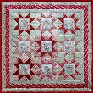patchwork design the patchwork quilt pattern by rosalie quinlan designs includes 9 redwork stitcheries