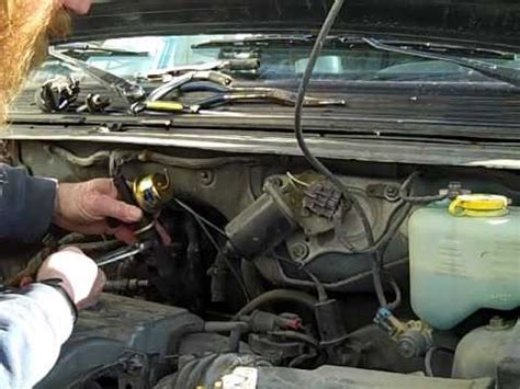 replace heater valve  plymouth mini van youtube