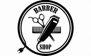 Barber Logo #6 Salon Shop Haircut Hair Cut Groom Grooming ...