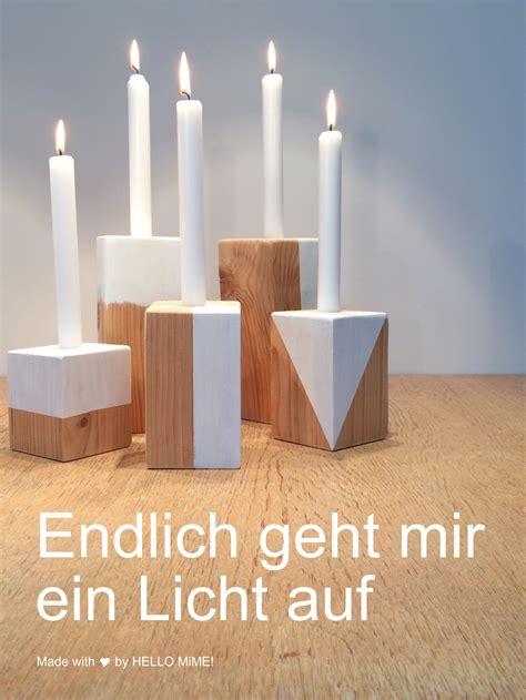 Garderobenständer Holz Selber Bauen by Diy Trendige Kerzenst 228 Nder Aus Holz Selbst Herstellen