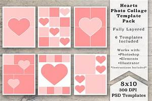 8x10 heart photo collage templates templates on creative for Free online photo collage templates