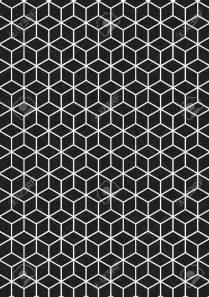 3D Geometric Cube Pattern