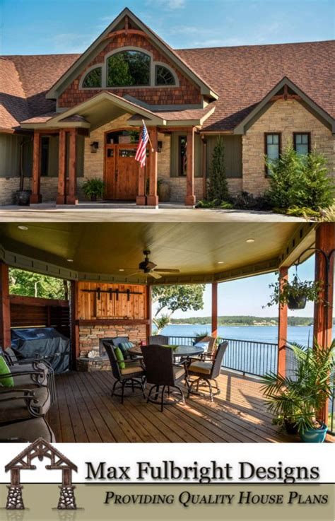 rustic mountain house floor plan  walkout basement house plans home  lakes