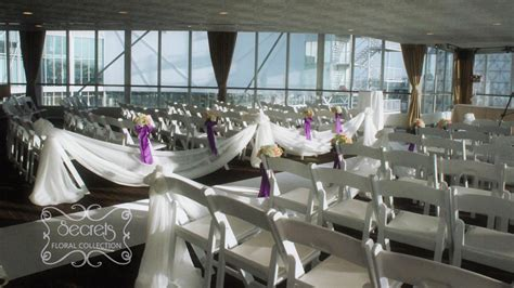 decorate wedding ceremony room a purple wedding ceremony and reception decoration with a touch of bling toronto wedding decor