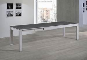 table moderne plateau ceramique table de salle a manger With meuble salle À manger avec table salle a manger bois moderne