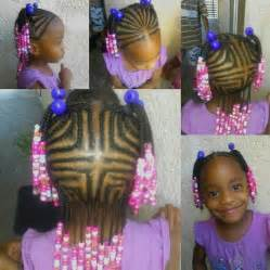 Little Girl Braids with Beads Hairstyles