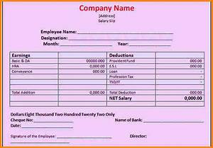 Excel Bank Register 7 Sample Of Salary Voucher Simple Salary Slip