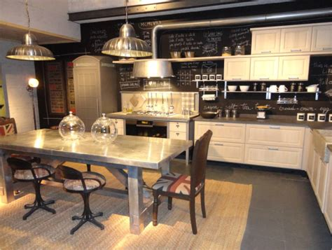 industrial country kitchen designs industrial accents soften modern classic country cabinets 4662