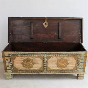 Washed Green Wooden Blanket Box - Kasakosa Home Decor