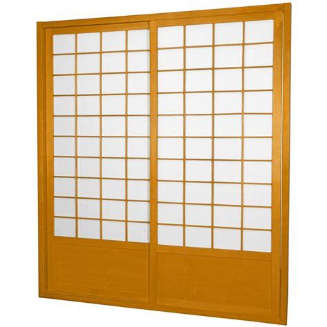 7 ft zen shoji sliding door kit orientalfurniture