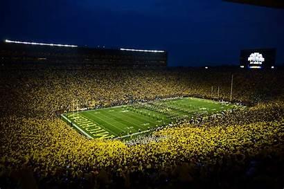 Michigan Stadium University Western Football Night Wallpapers