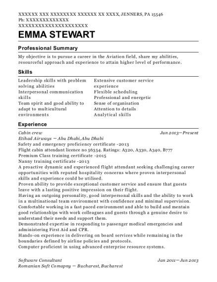 Crew Resume by Qatar Airways Cabin Crew Resume Sle Fairfax Virginia