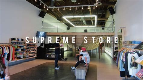 l stores los angeles supreme store in los angeles youtube