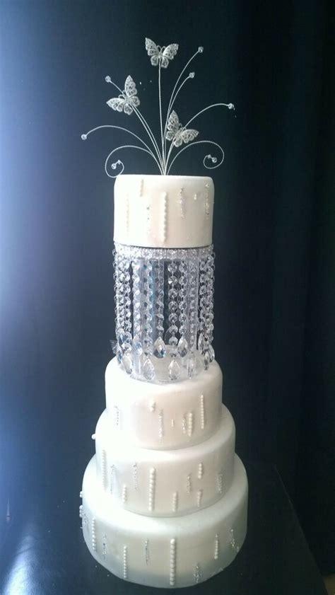 tall crystal tear drop design cake separators matching wedding cake stand ebay