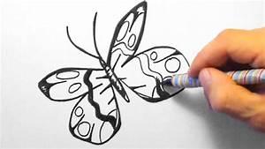 Schöne Muster Zum Selber Malen : schmetterling zeichnen f r anf nger butterfly drawing for beginners hd youtube ~ Orissabook.com Haus und Dekorationen