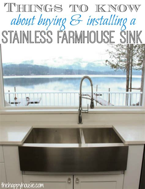 how to install a farmhouse sink in existing cabinets things to know about buying installing a stainless steel