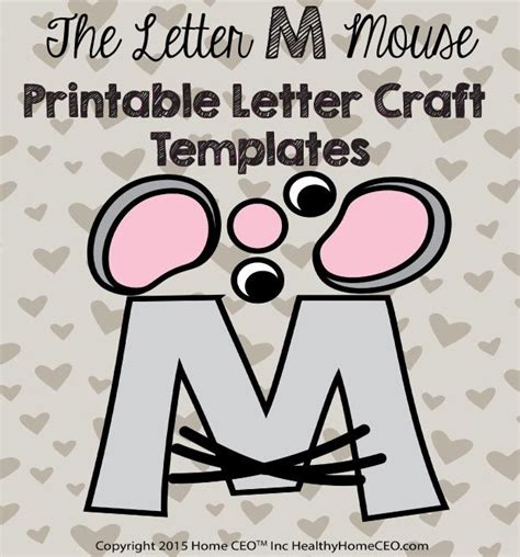 m m template the letter m mouse printable letter craft template by home ceo in color and black and white