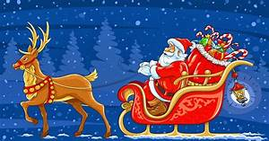 Weihnachtsmann Schlitten Und Rentier HD Hintergrundbilder