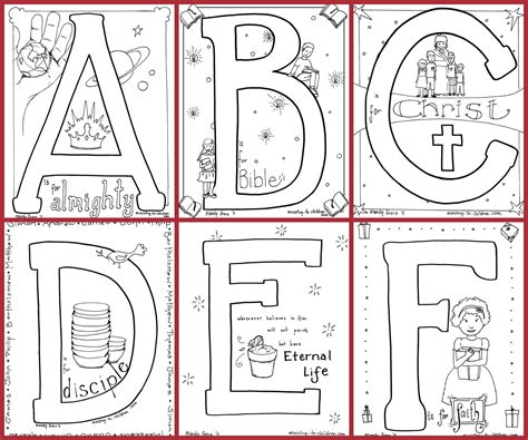 Bible Alphabet Coloring Pages