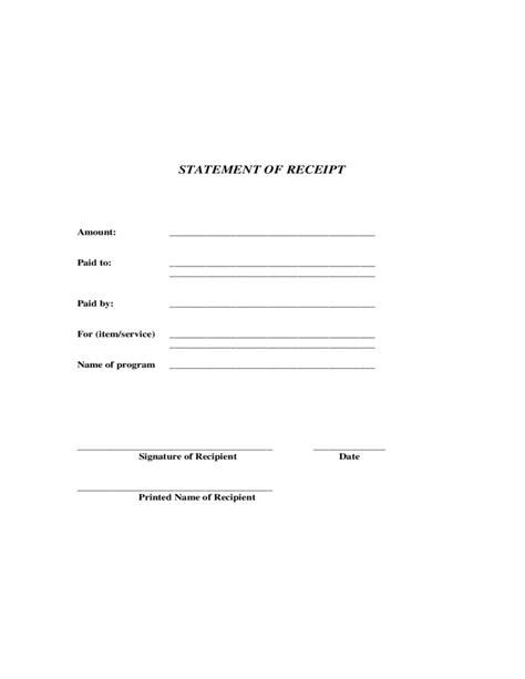 statement  receipt