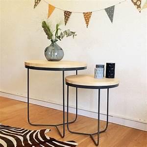 Table Gigogne Industriel : 14 best tables basses images on pinterest coffee tables ~ Teatrodelosmanantiales.com Idées de Décoration