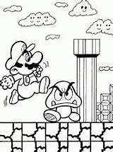 Coloring Mario Brothers Arcade Printable Bros Cartoon Patrick Coloringhome Wonder sketch template