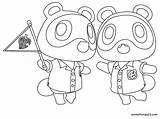 Crossing Animal Coloring Pages Timmy Tommy sketch template