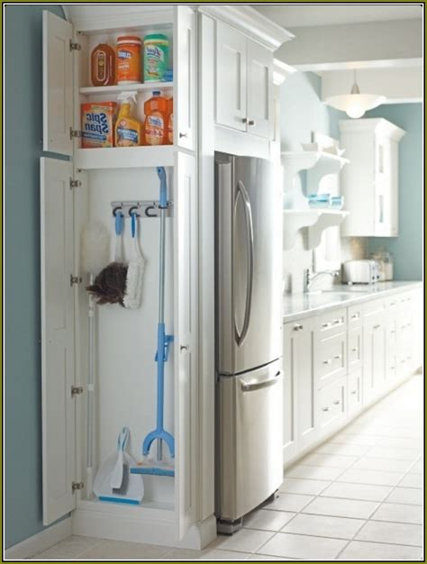 Broom Closet Cabinet Lowes Home Design Ideas