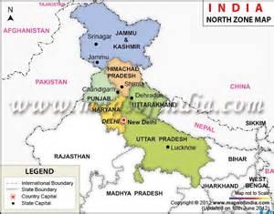 North India Tourist Map