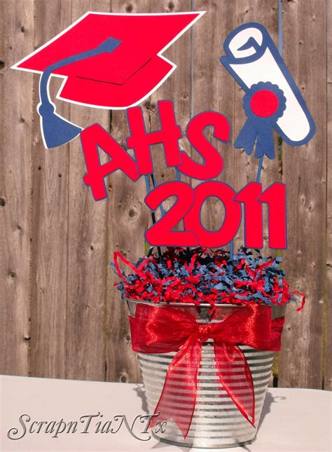 homemade graduation centerpieces party invitations ideas
