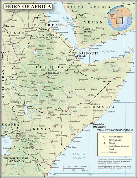Carte Relief Europe Centrale by Kaart Hoorn Afrika Engels Met Reli 235 F Wereld Kaart