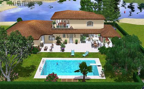 maison contemporaine sims 3