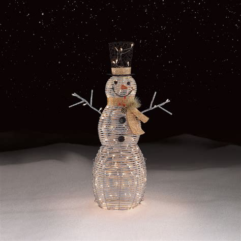 roebuck  silver snowman outdoor christmas decor