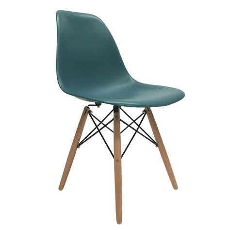 4 new turquoise eames style dsw wood leg side dining chair