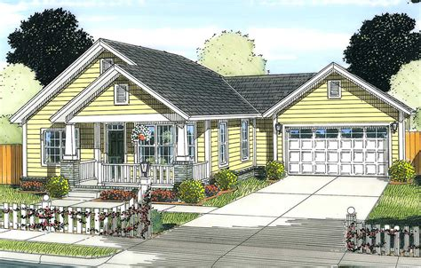 Two Bedroom Starter Home Plan 52208WM Architectural