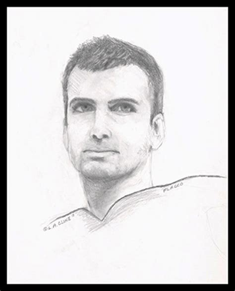 Super Bowl XLVII Ravens Quarterback Joe Flacco Sports Drawing
