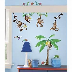 Wandtattoo Kinderzimmer Dschungel : dschungel wandtattoo f r das kinderzimmer affen kinderzimmer dschungel safari ~ Orissabook.com Haus und Dekorationen
