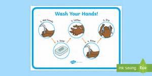 Hand Washing Instructions Display Poster